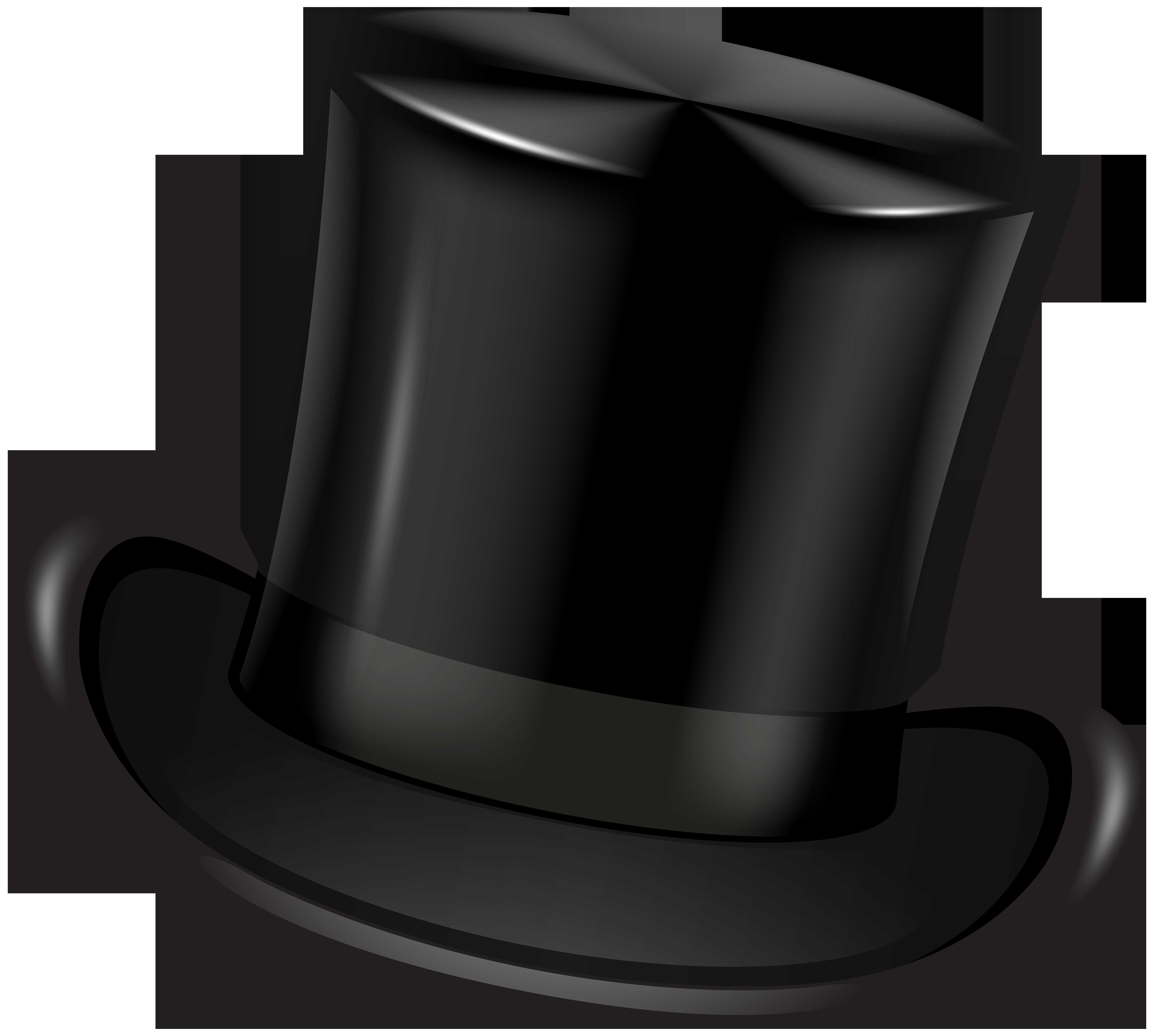 Mustache clipart bowler hat. Black top transparent clip