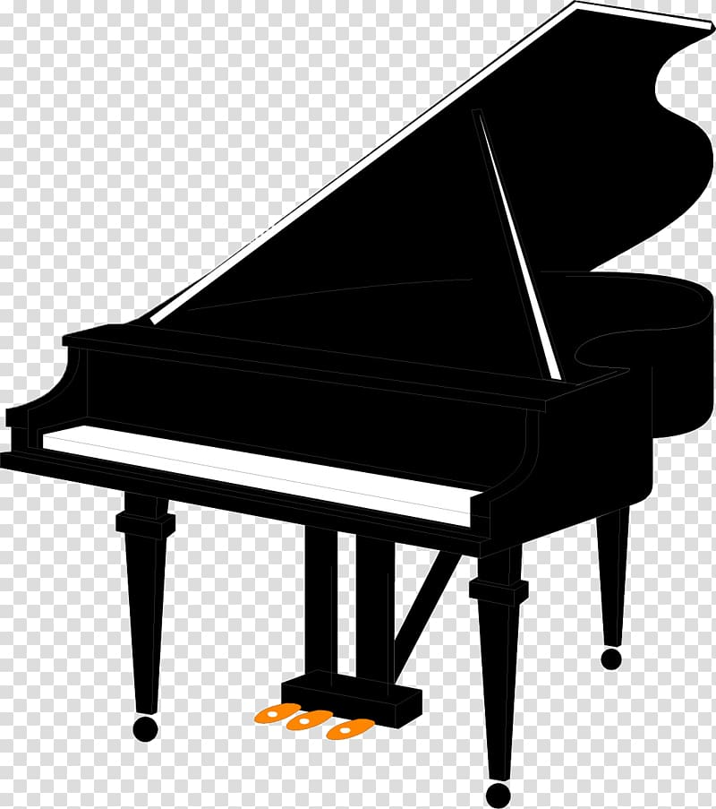 Grand music free content. Piano clipart transparent background