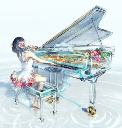 Piano clipart transparent tumblr.