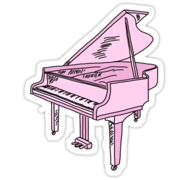 Baby pink grand sticker. Clipart piano transparent tumblr