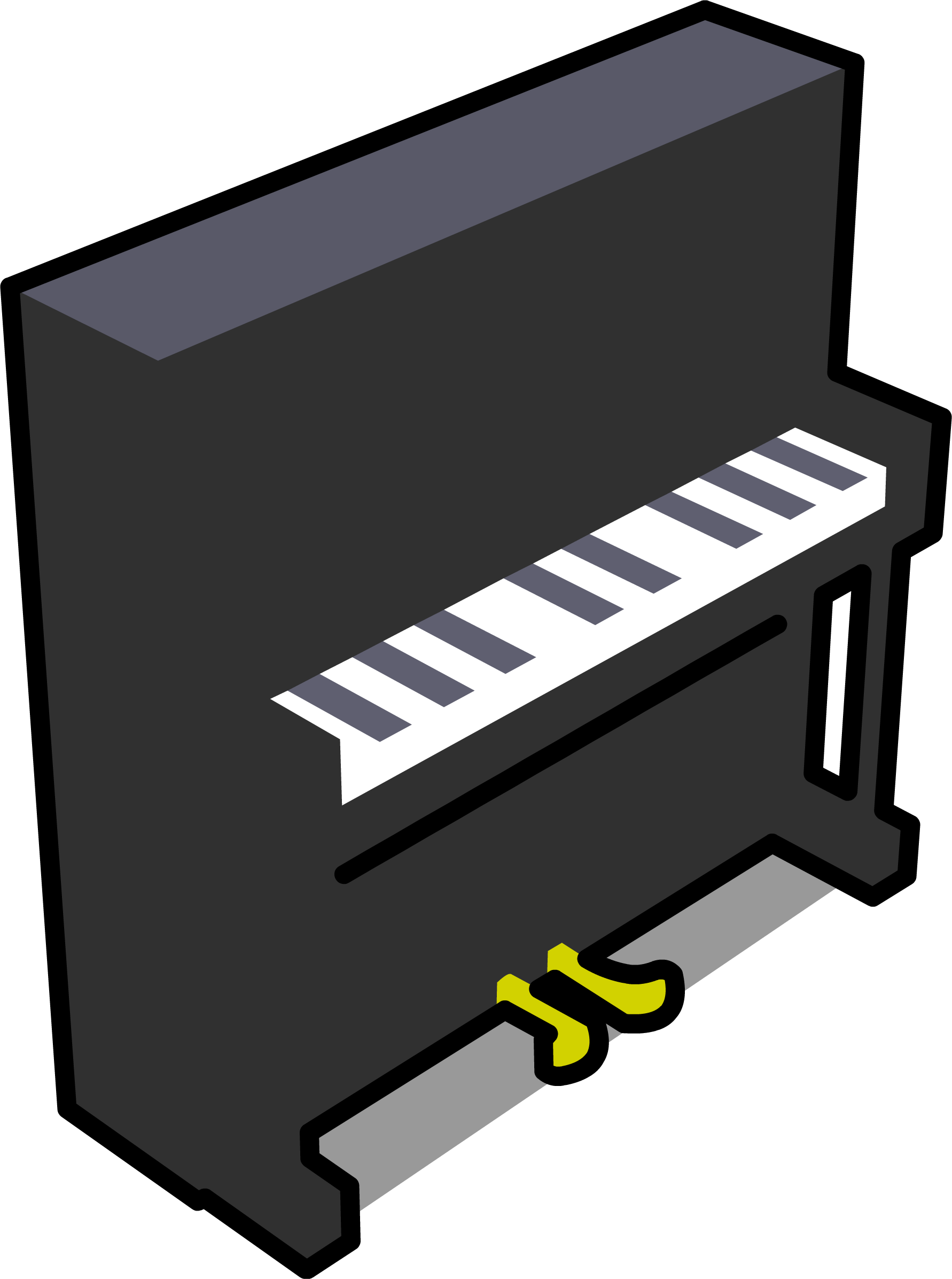 Image sprite png club. Piano clipart upright piano