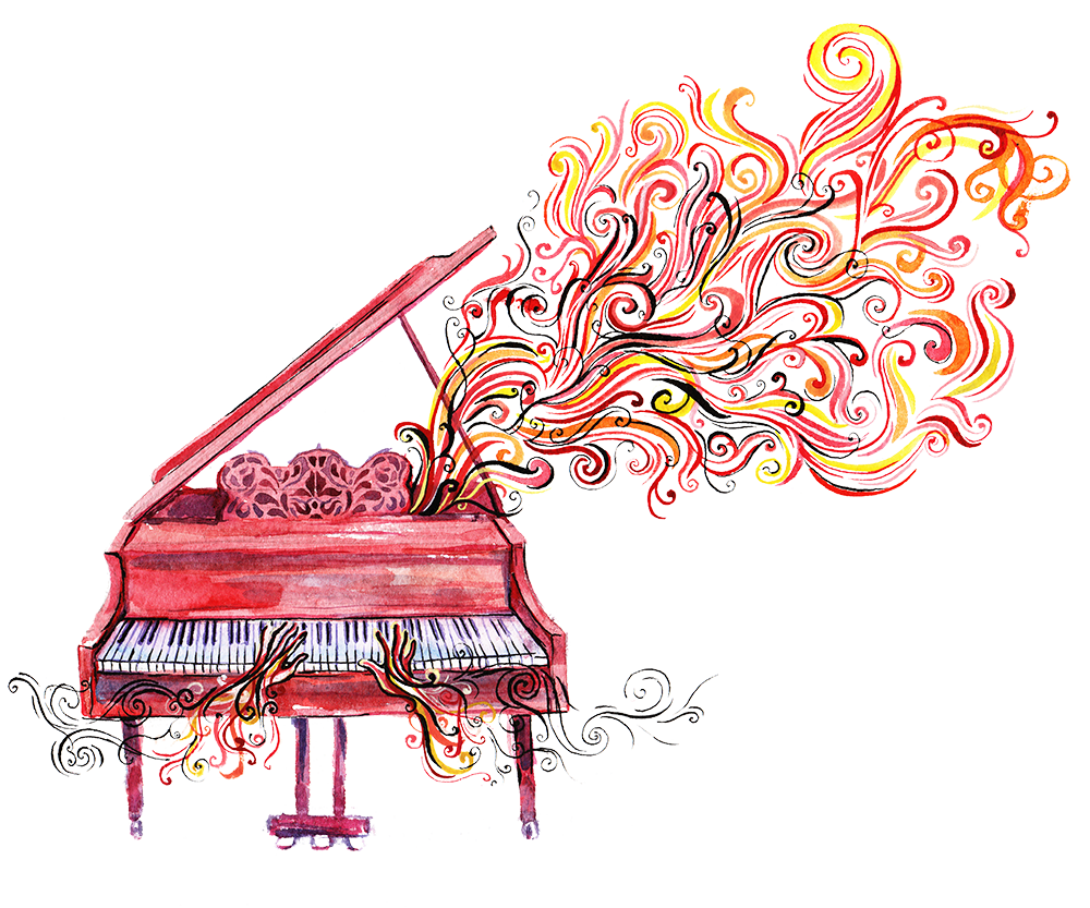 Family co rated store. Piano clipart upright piano