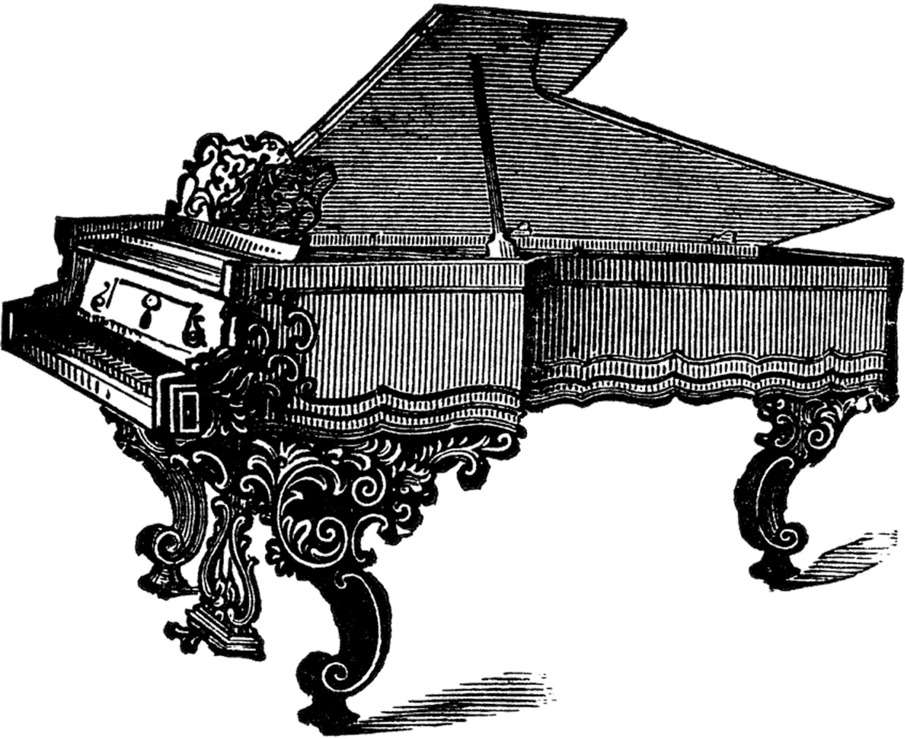 Pin by barbara williams. Piano clipart old piano