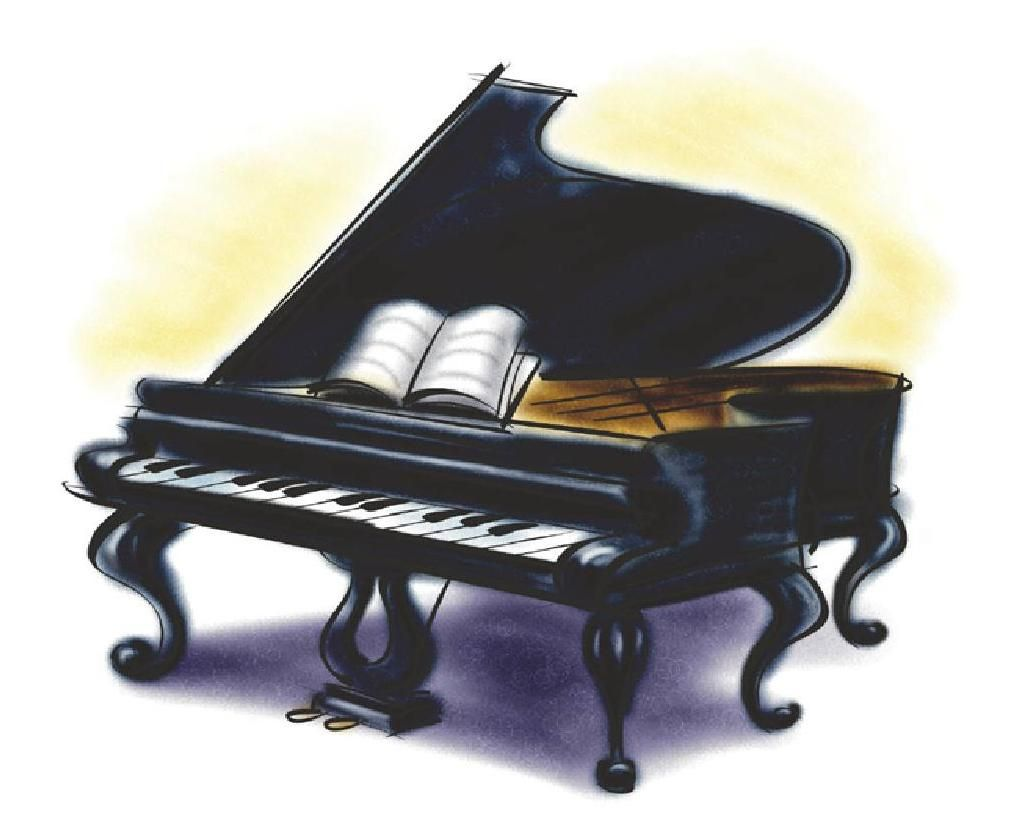 Cartoon grand pianos other. Piano clipart wallpaper