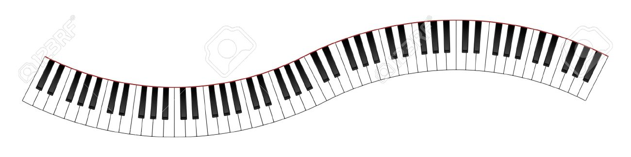 Piano clipart wavy. Key free download best