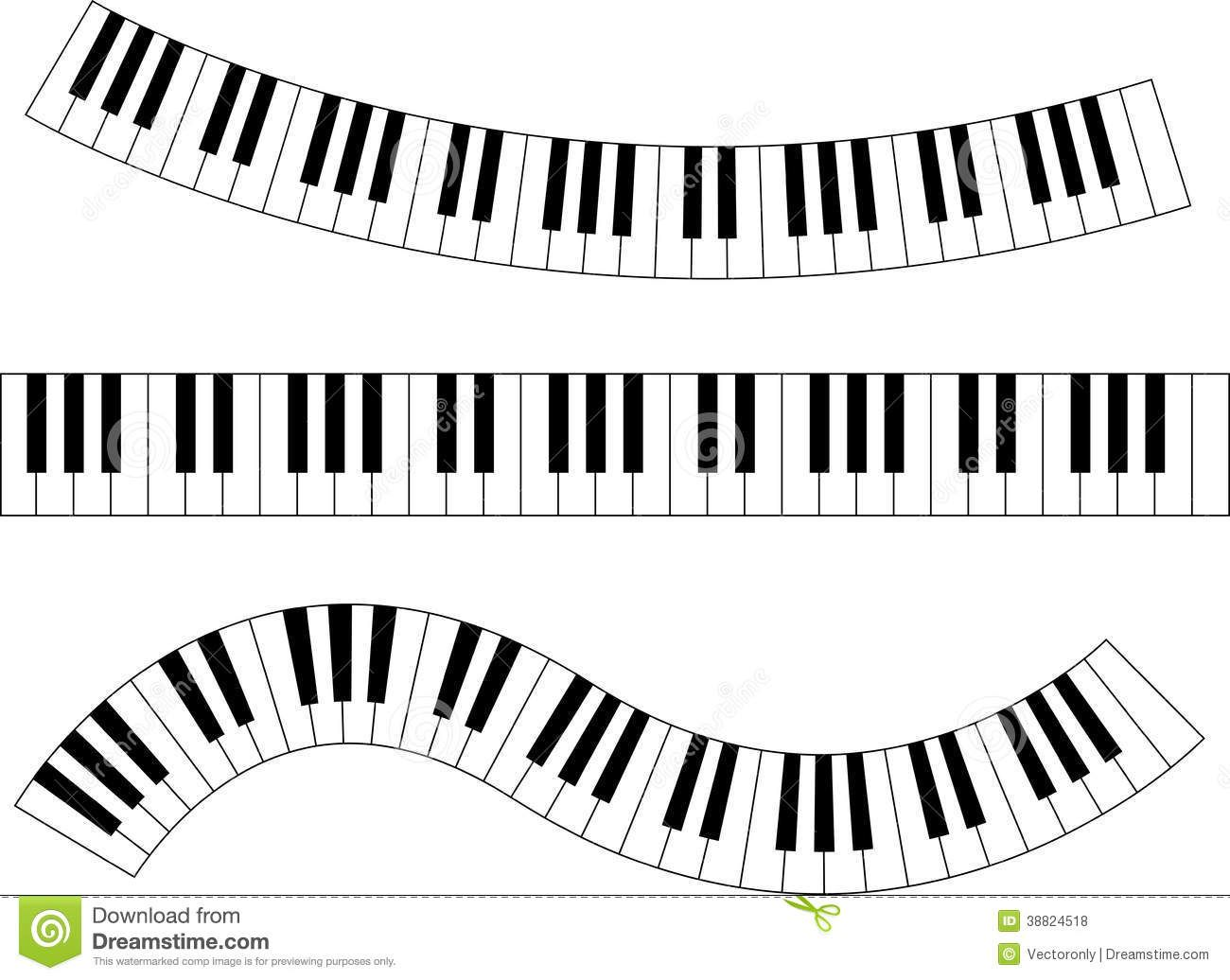 Keyboard station . Piano clipart wavy