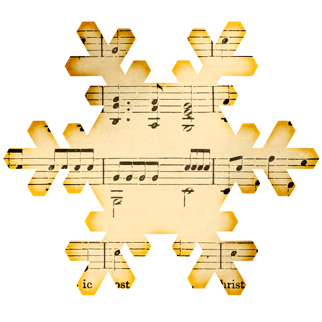 Musical music pencil and. Piano clipart winter