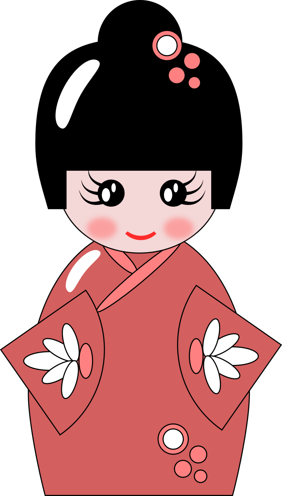 Collection of girl work. Doll clipart domain