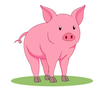 Free clip art pictures. 1 clipart pig