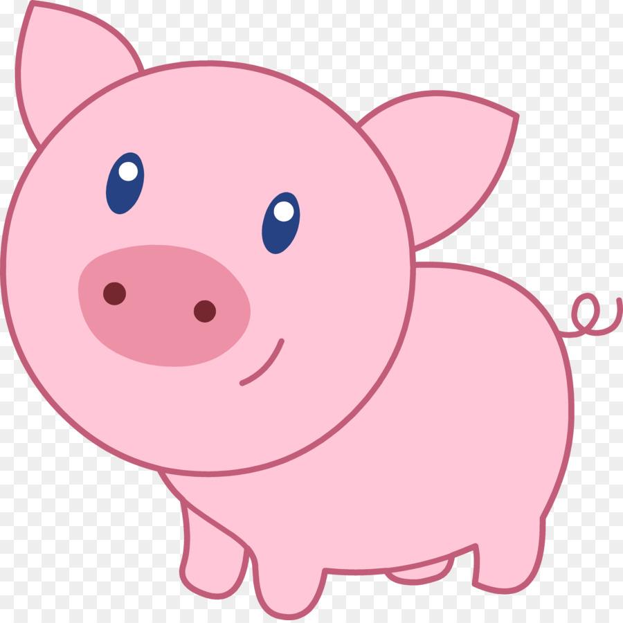 Domestic clip art cute. Clipart pig