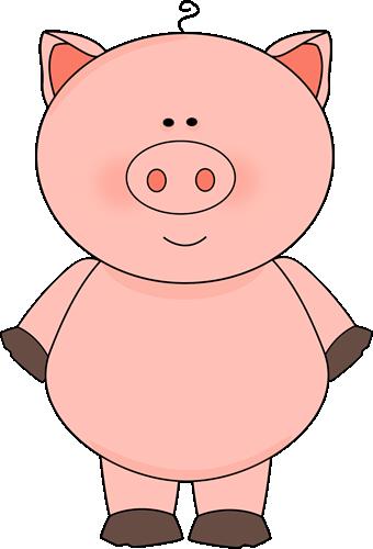 Clipart pig. Cute clip art image