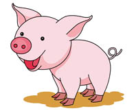 Pig clip art cartoon. Pigs clipart