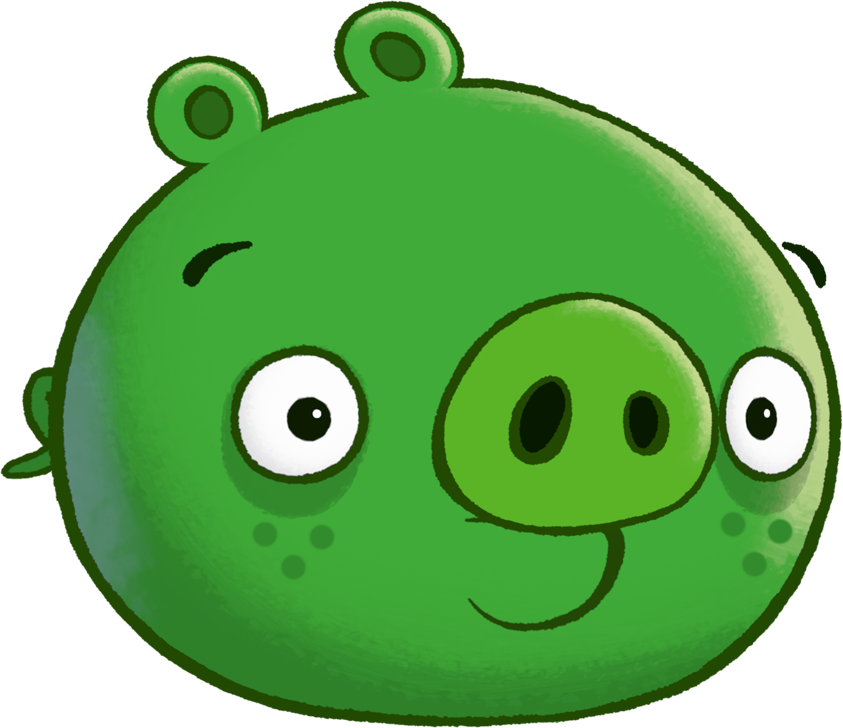 Image porky bad piggies. Clipart pig angry