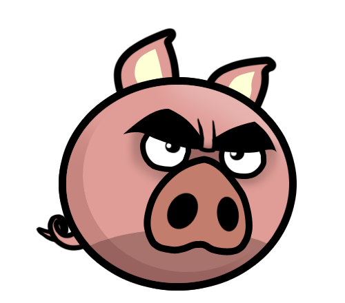 Images gallery for free. Pig clipart angry