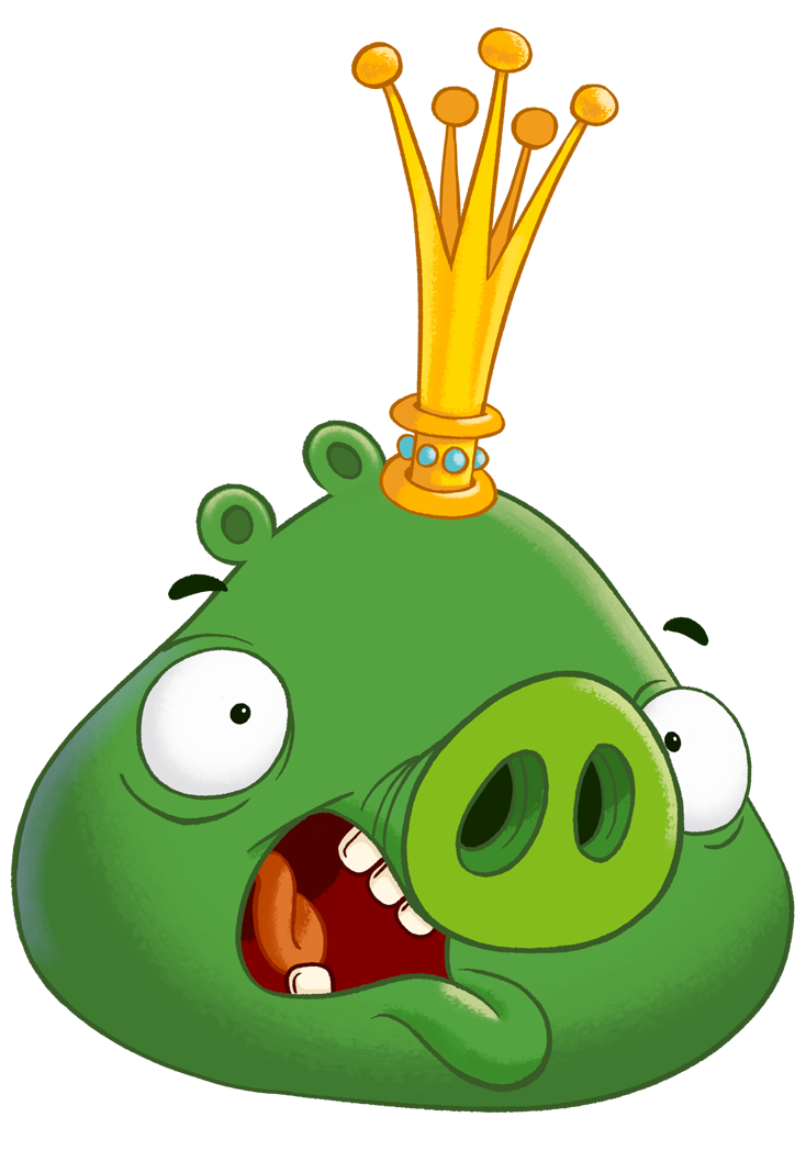 King pig birds toons. Hamster clipart angry