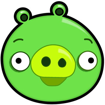 How to draw green. Pigs clipart angry bird