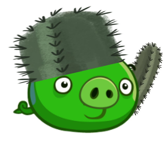 Clipart pig angry bird. Cactus birds epic fanon