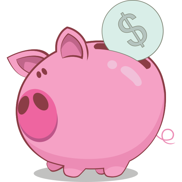 Clipart pig bank. Piggy cilpart bold design