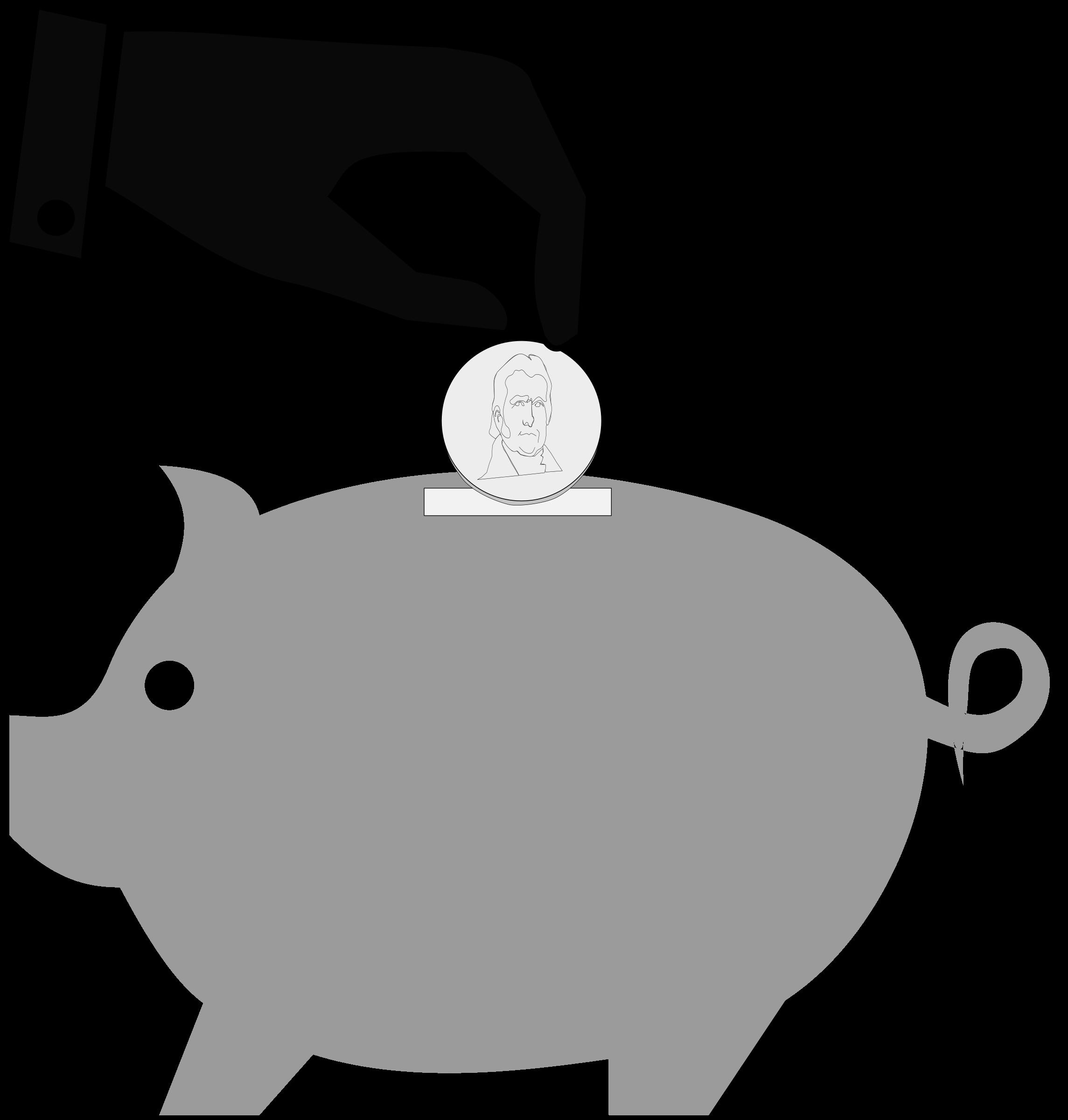 Piggy clipartblack com animal. Clipart pig bank