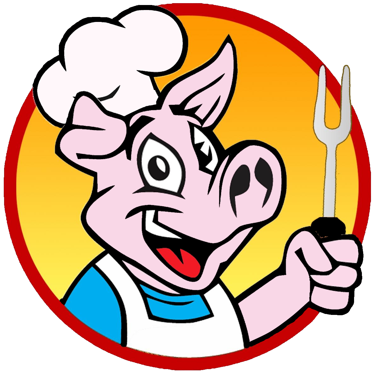 Hungry clipart bbq restaurant. Barbecue pig png transparent
