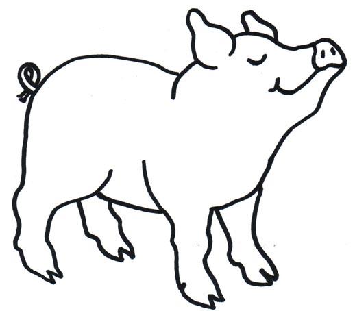 Hog clipart black and white. Pig clip art panda
