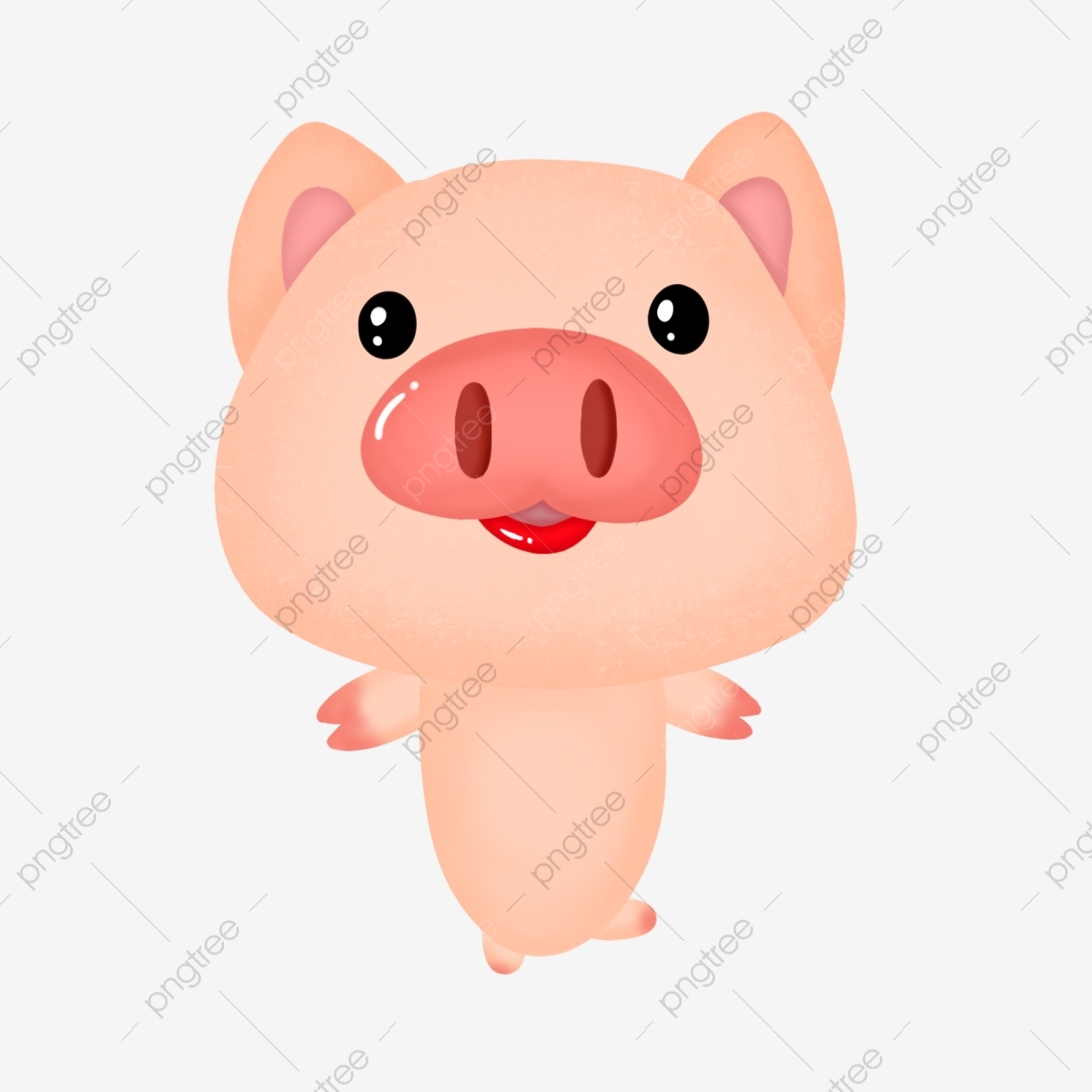 Year of the little. Clipart pig body