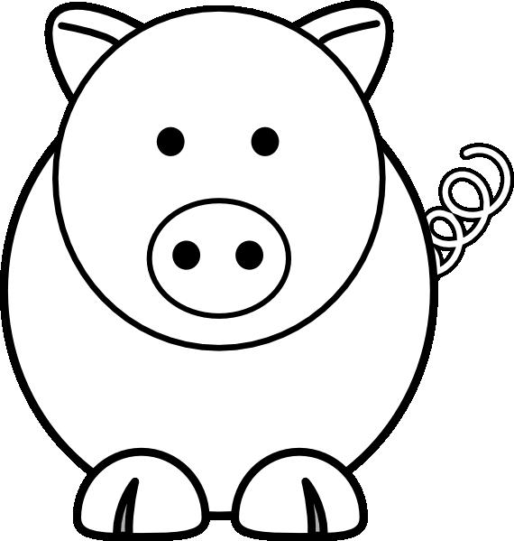Movement clipart lokomotor. Cartoon pig clip art