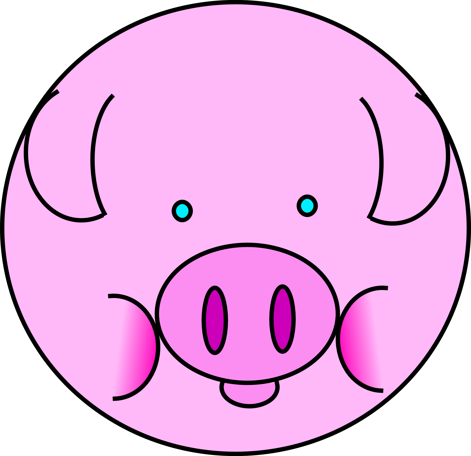 Pig clipart black and white. Free images clipartix