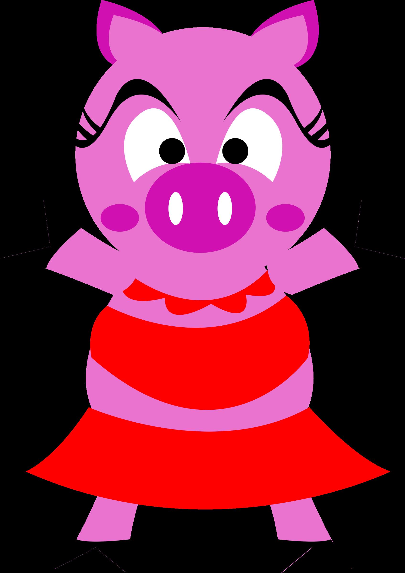 Madame big image png. Clipart pig character