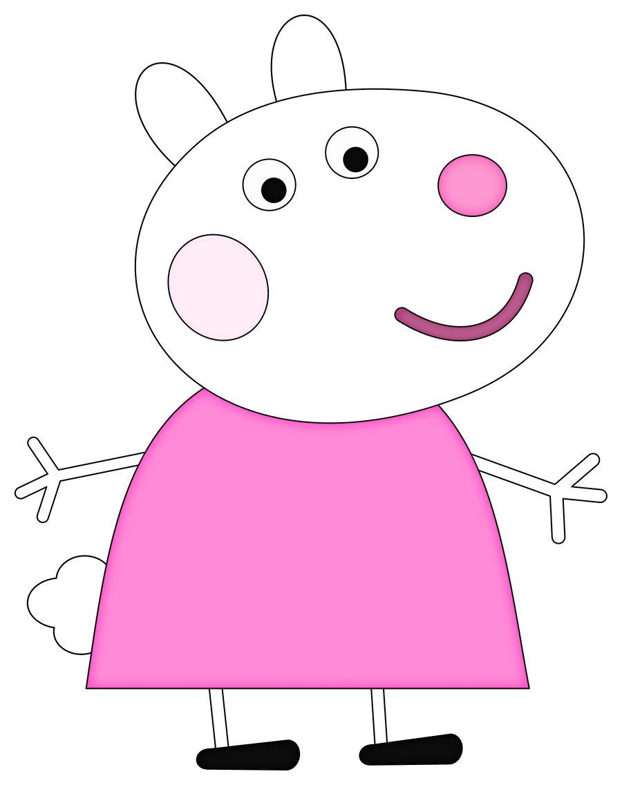 Peppa minus pig already. Shy clipart piglet