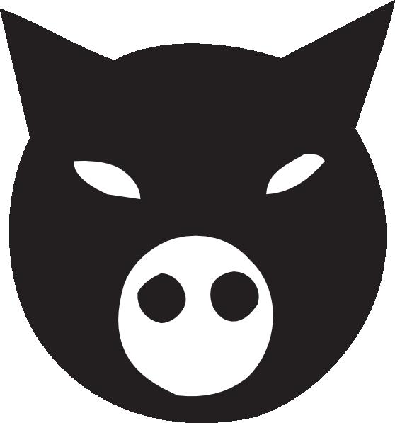 Black face clip art. Clipart pig character