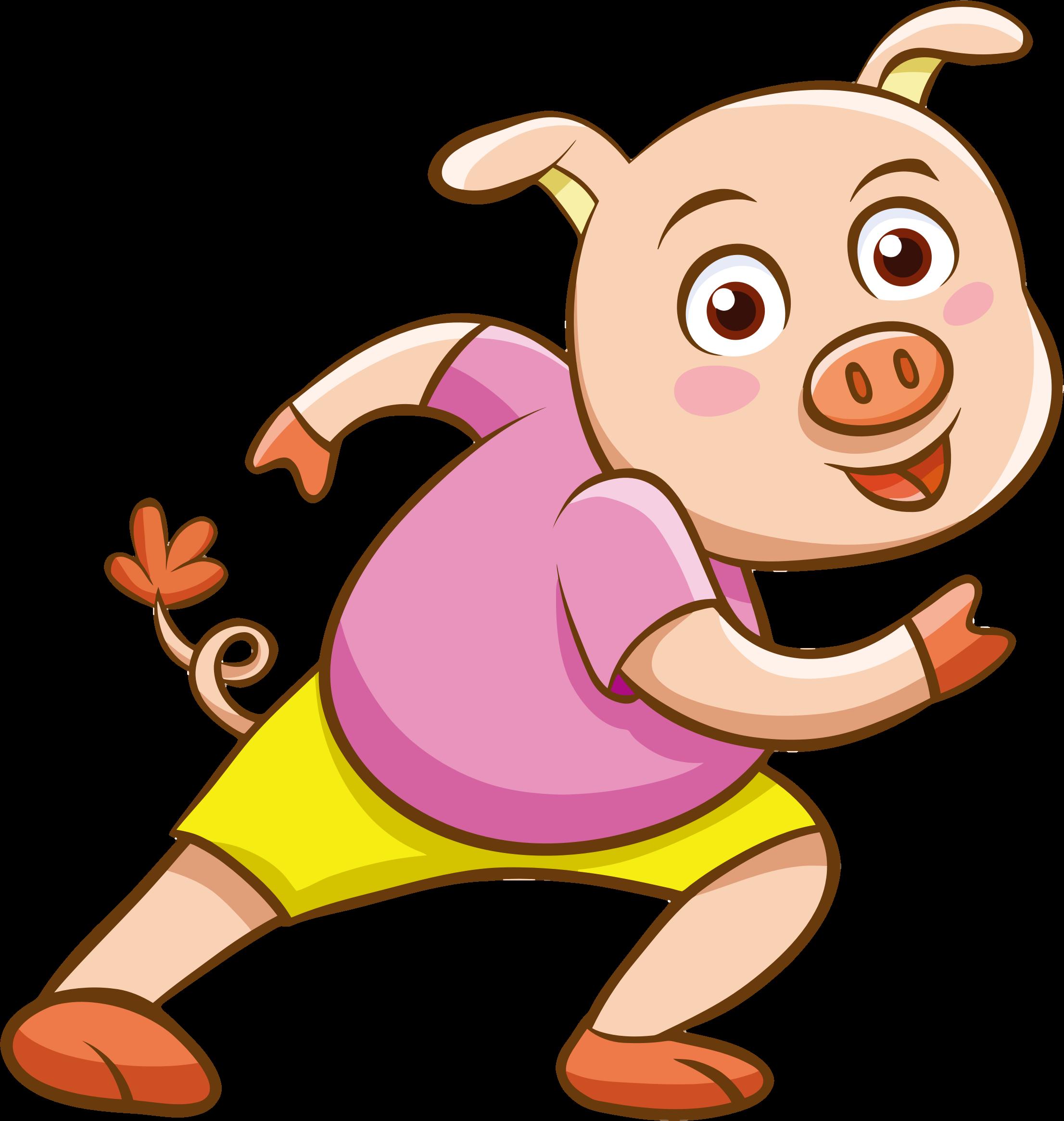 Cartoon big image png. Clipart pig character
