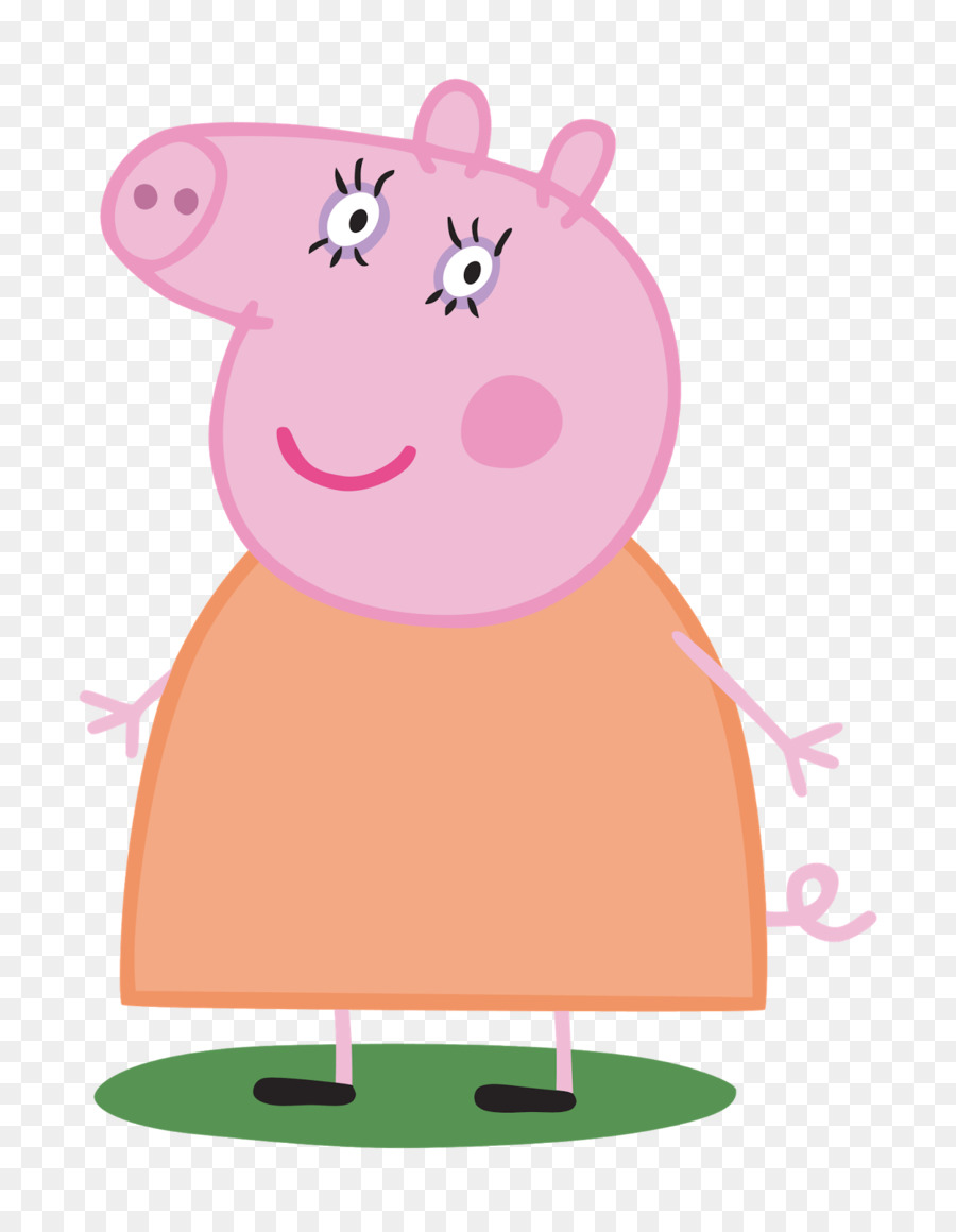 Clipart pig character. Cartoon pink transparent clip