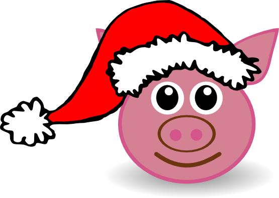 Images gallery for free. Pig clipart christmas