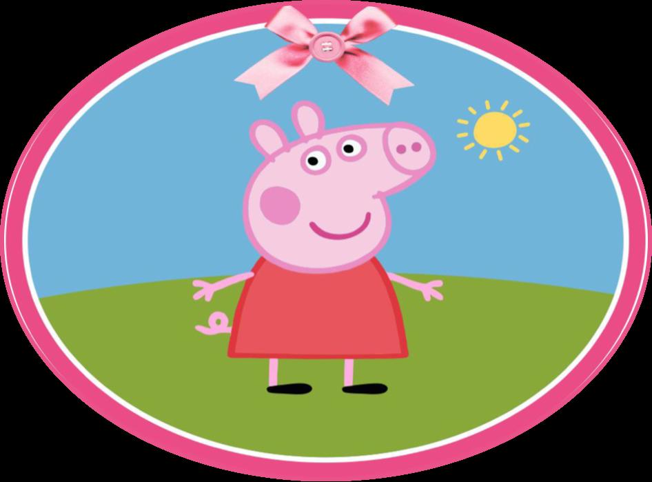 Pigs peppa freetoedit sticker. Clipart pig circle