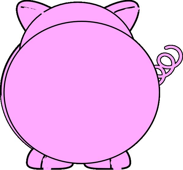 Back clip at clker. Pig clipart line art