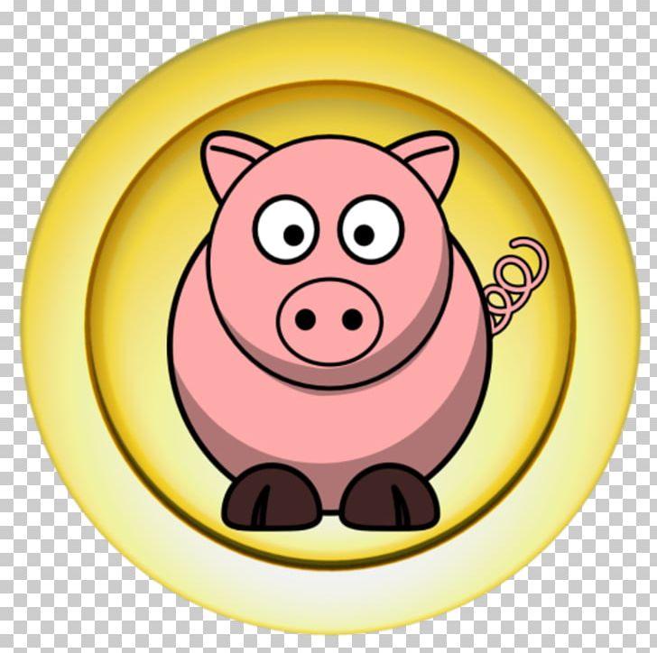 Large white png cartoon. Clipart pig circle