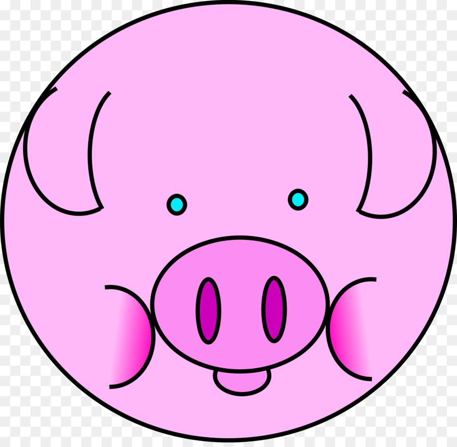 Clipart pig circle. Mouth cartoon nose transparent