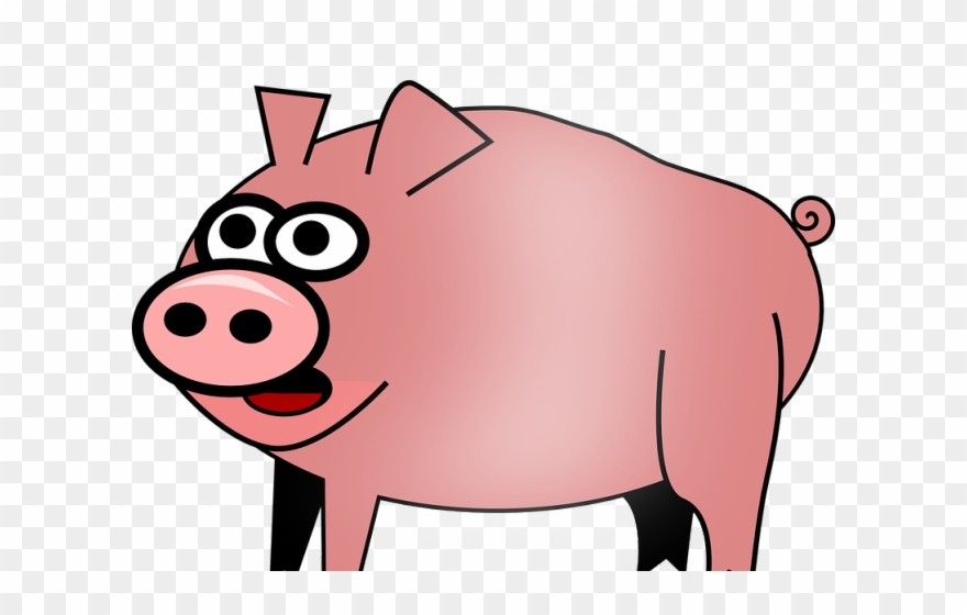 Clipart pig clear background. Pork farm with no