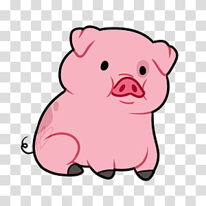 Pink piglet domestic transparent. Clipart pig clear background