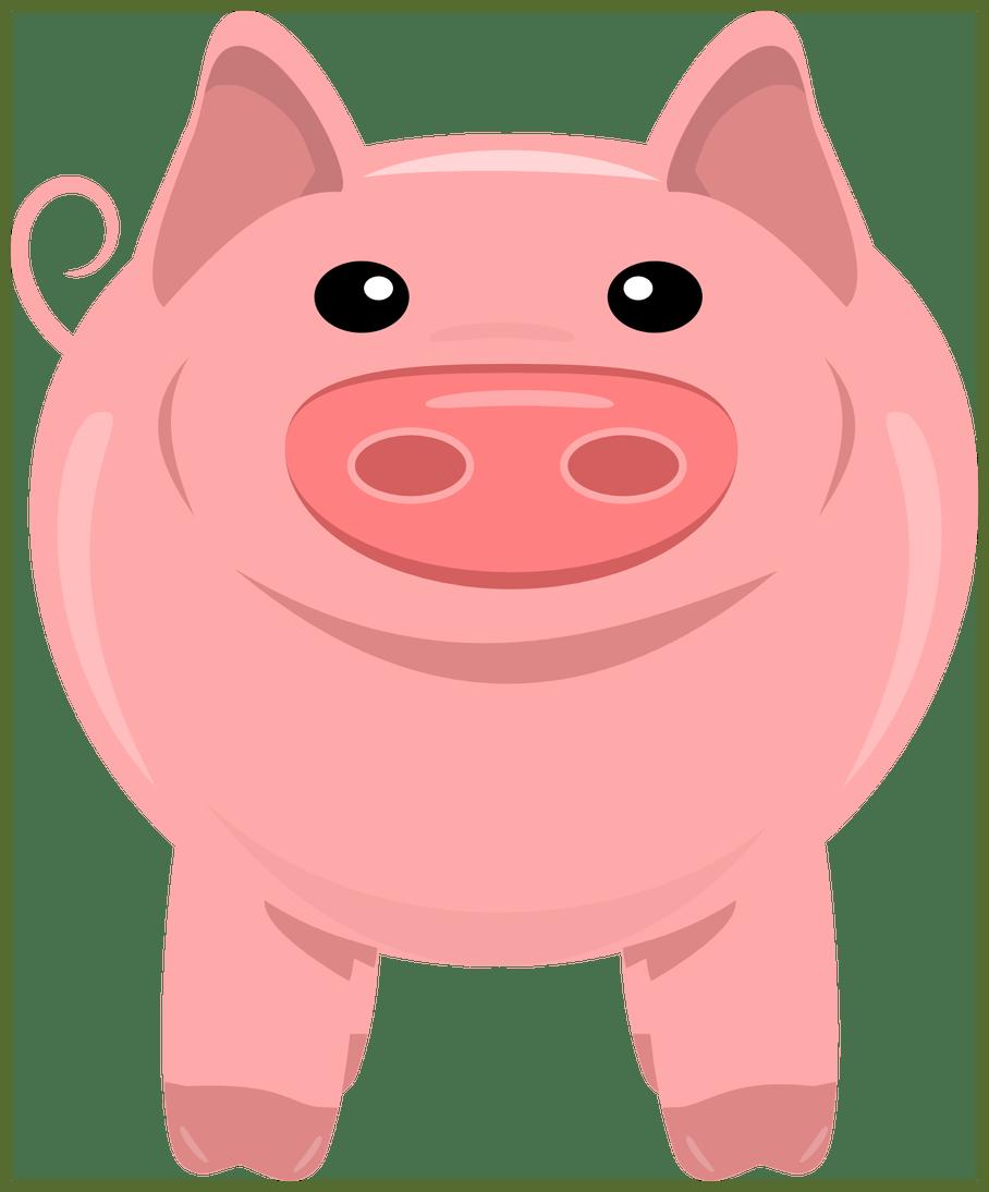 Marvelous pig no color. Pigs clipart dance