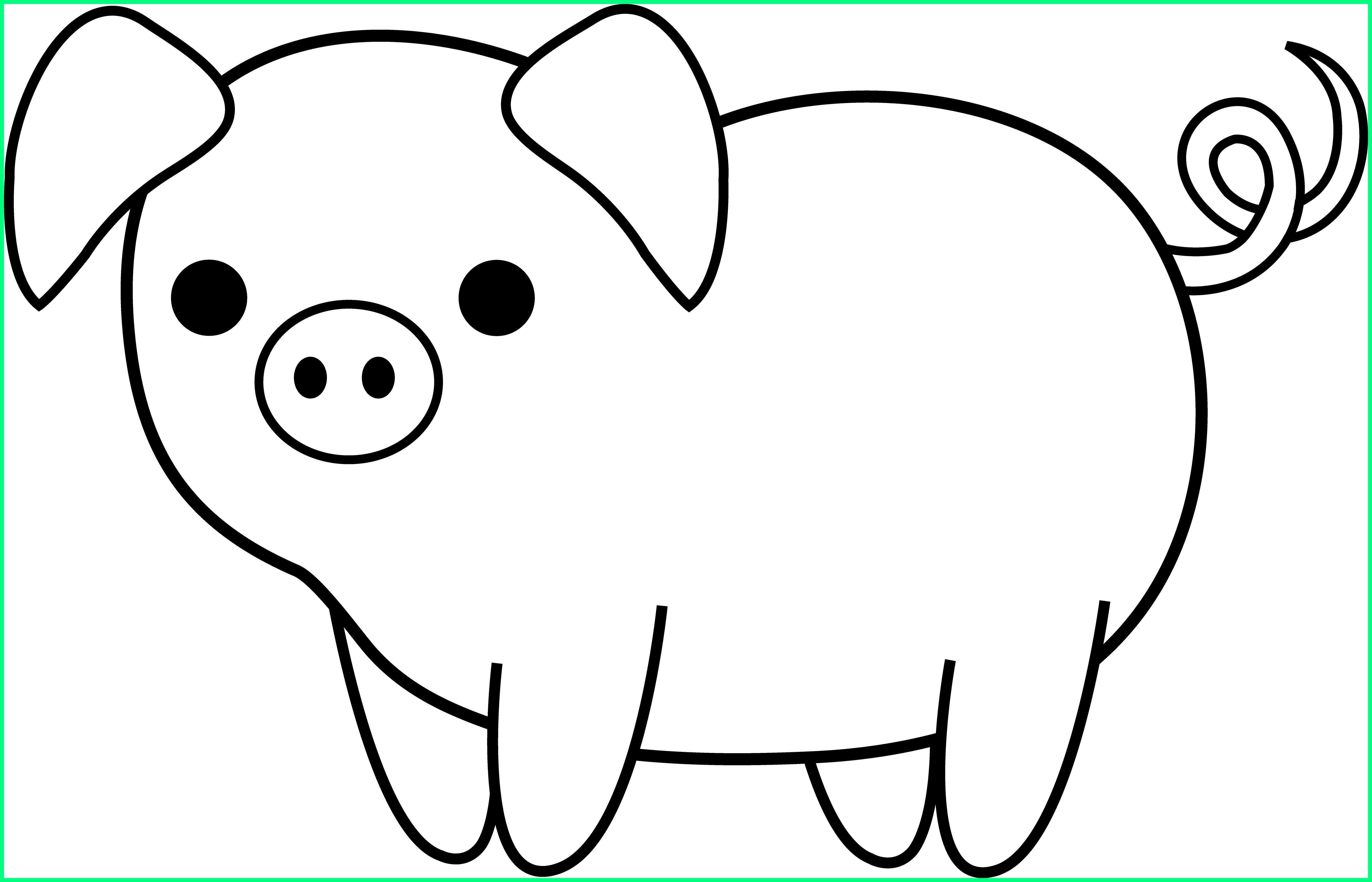 The best animated pencil. Clipart pig color