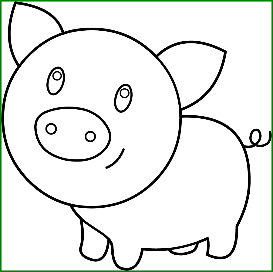 Clipart pig color. Fascinating amd pencil and