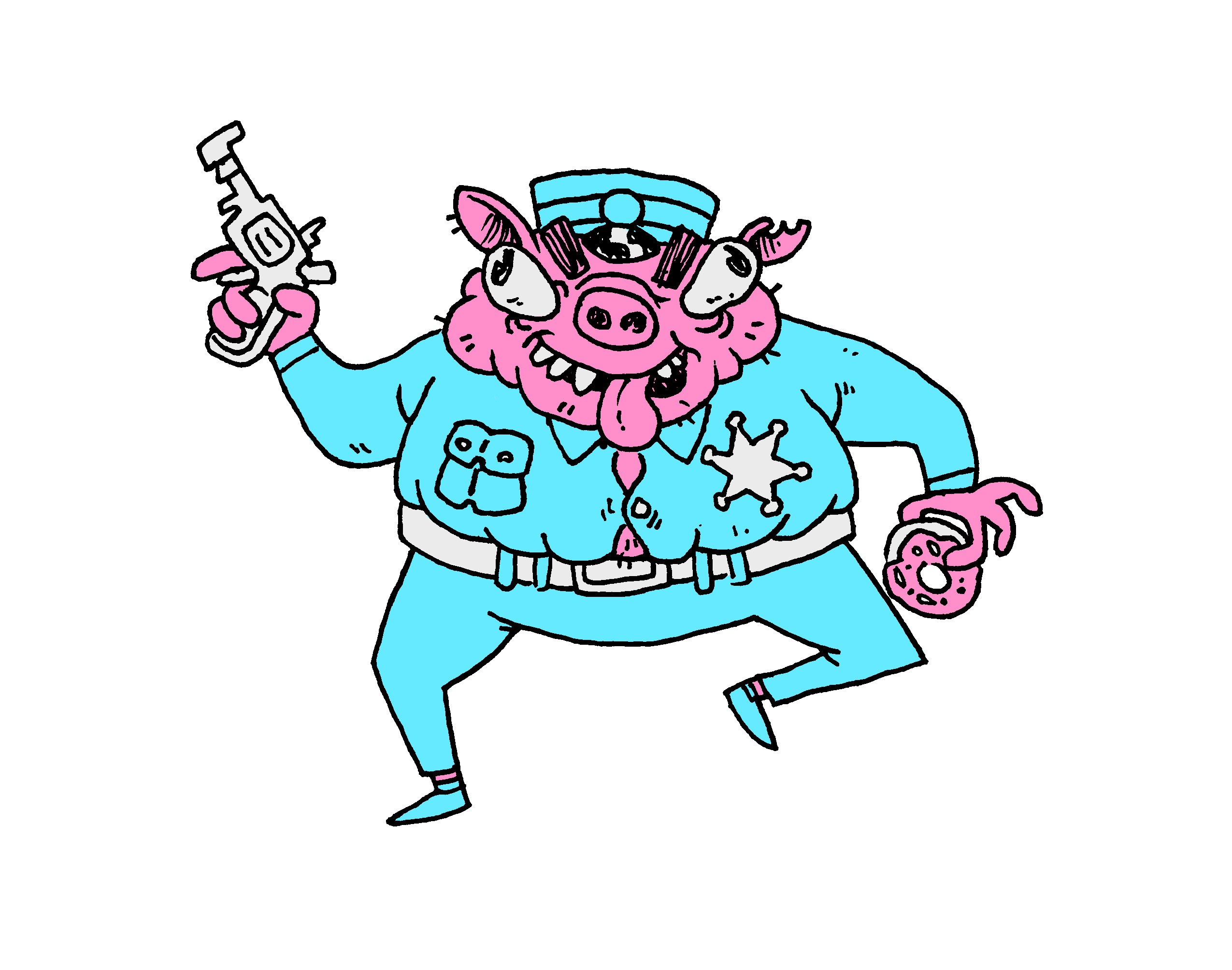 By show labs pigcopmaczip. Pig clipart cop