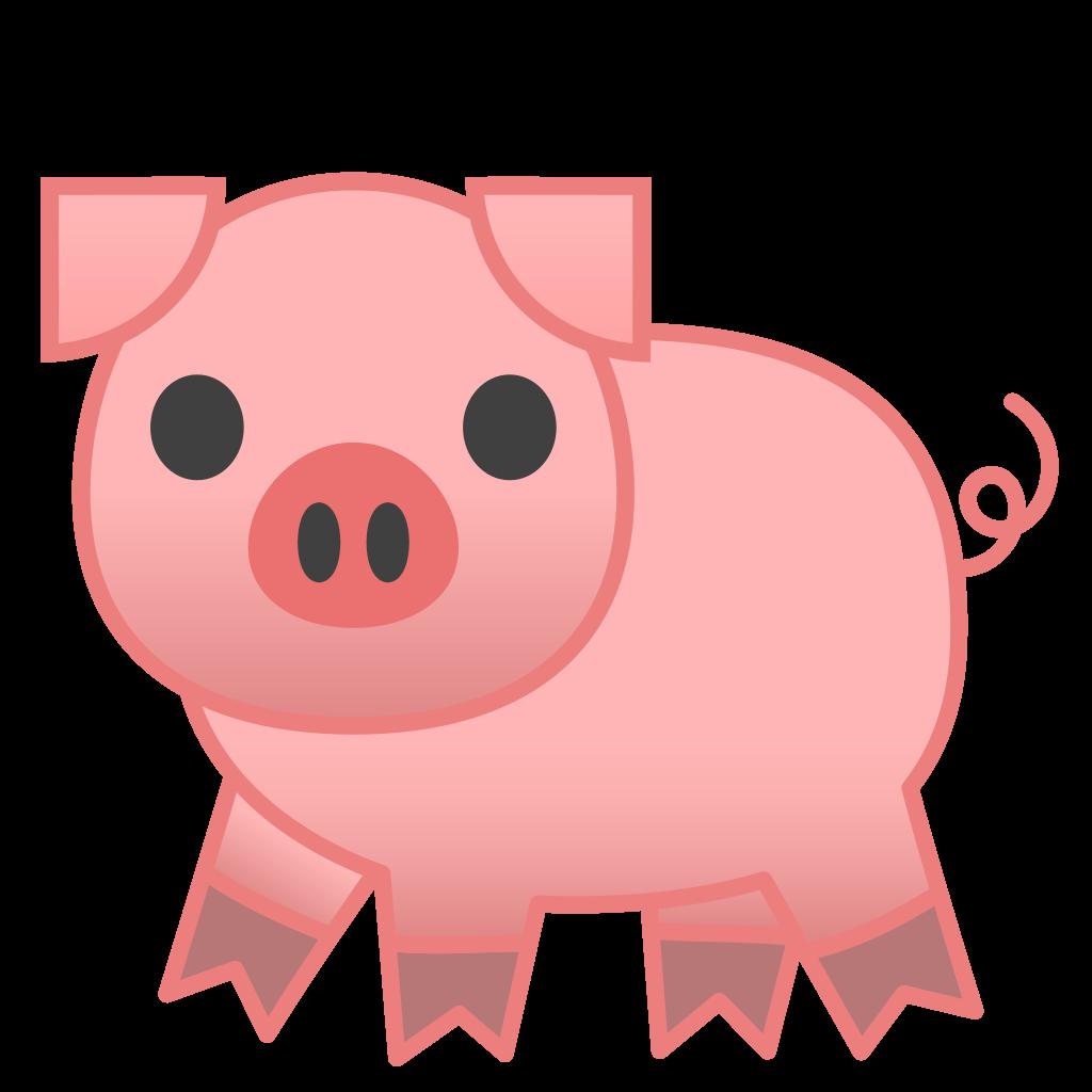 Clipart pig cop. Icon noto emoji animals