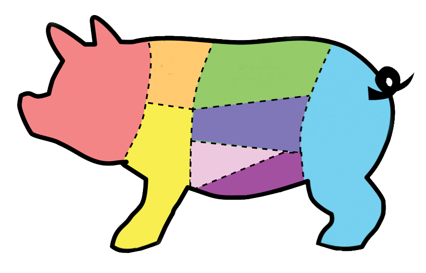 The pork shop . Clipart pig cop