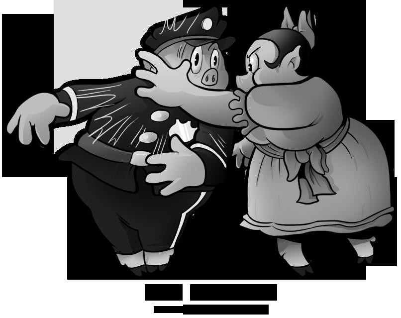 couple by boscoloandrea. Clipart pig cop