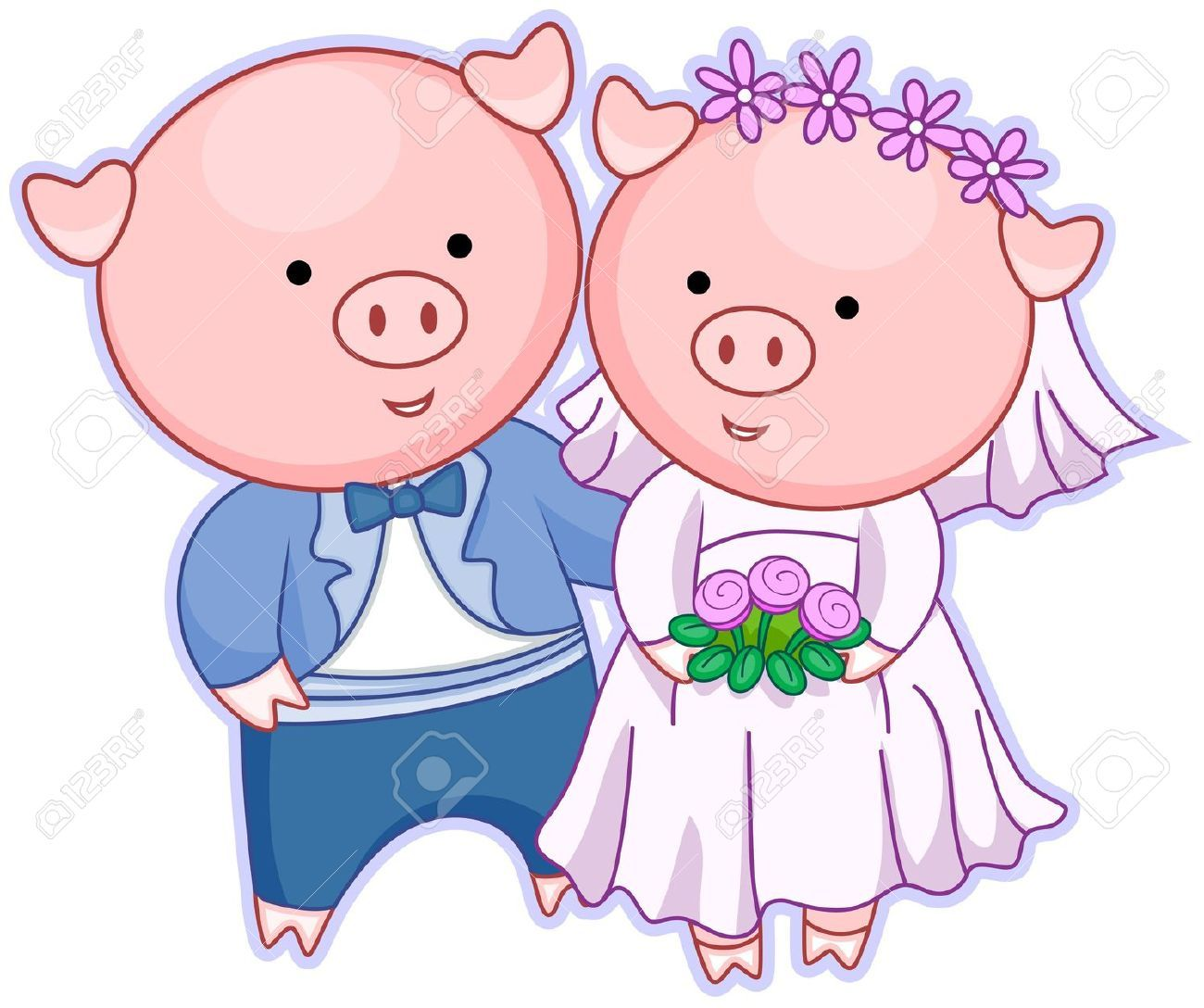 Pig clipart couple. Images stock pictures royalty