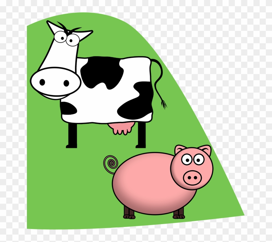 S ave a cow. Cows clipart pig