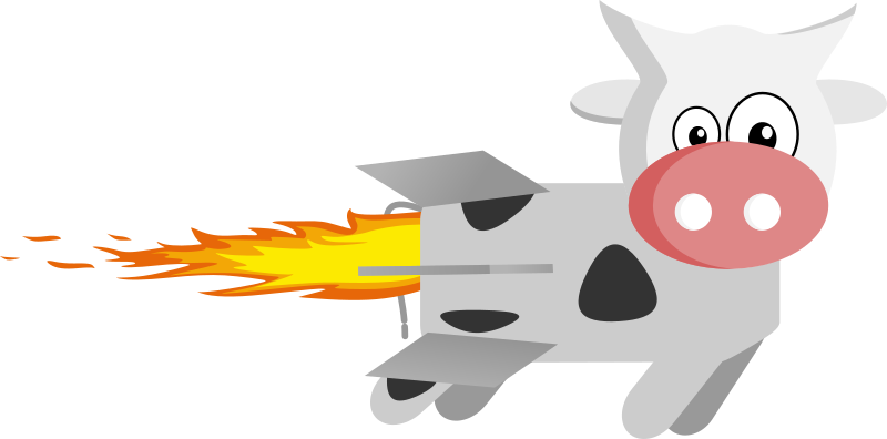 Rocket medium image png. Clipart pig cow